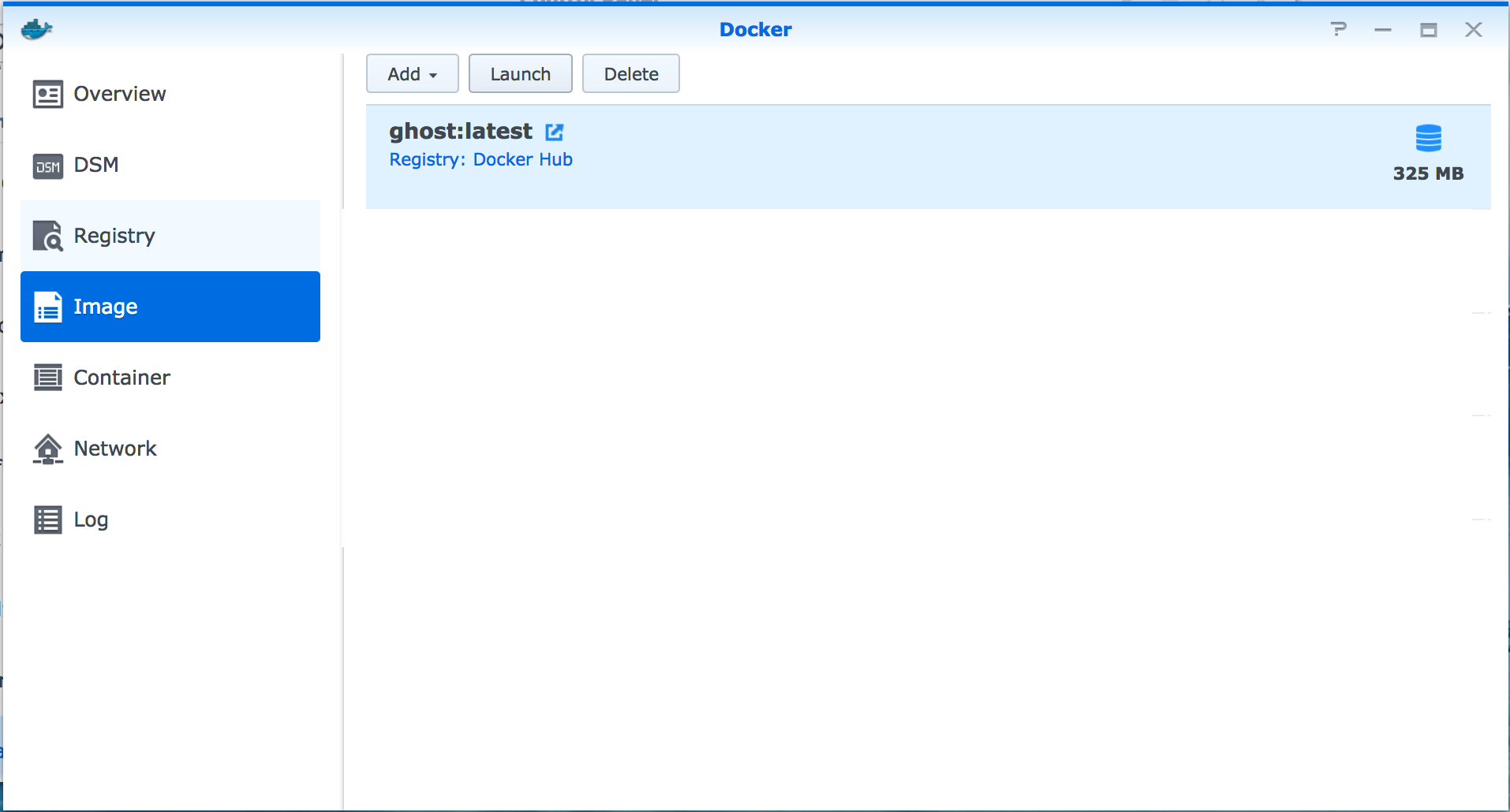 Synology - Configure Docker with Ghost Blog
